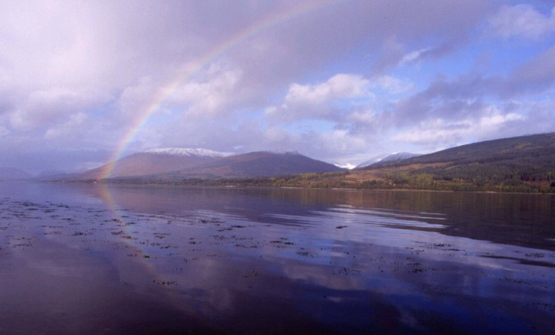 Regenbogen über Loch Eil, Fort William / Ardgour, Schottland